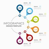 Infographic template. Vector illustration. Used for workflow layout, diagram, business step options, banner, web design. Infographic template. Vector stock illustration
