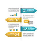 Infographic template on white Royalty Free Stock Photography