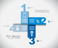 Infographic templated with paper number shapes Stock Photo