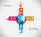Infographic templated with paper number shapes Stock Photography
