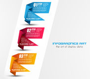 Infographic templated with paper number shapes Stock Photos