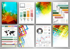 Infographic templates and abstract backgrounds Stock Photo