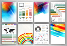 Infographic templates and abstract creative backgrounds Royalty Free Stock Photo