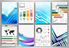 Infographic templates and abstract creative backgrounds Stock Images