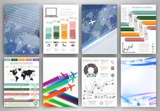Infographic templates and abstract creative backgrounds Royalty Free Stock Images