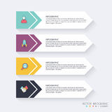 Infographic Templates for Business. Can be used for website layo Stock Photography