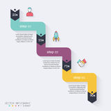 Infographic Templates for Business. Can be used for website layo Royalty Free Stock Photo