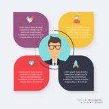 Infographic Templates for Business. Can be used for website layo Stock Images