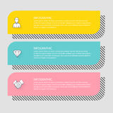 Infographic Templates for Business. Can be used for website layo Stock Photo