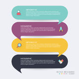 Infographic Templates for Business. Can be used for website layo Royalty Free Stock Photos
