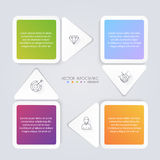 Infographic Templates for Business. Can be used for website layo Royalty Free Stock Images