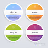 Infographic Templates for Business. Can be used for website layo Stock Photos