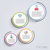 Infographic Templates for Business. Can be used for website layo Royalty Free Stock Photography