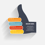 Infographic Templates for Business Vector Illustration Royalty Free Stock Image
