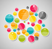 Infographic Templates for Business Vector Illustration. Stock Images