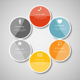 Infographic Templates for Business Vector Illustration. EPS10 Royalty Free Stock Images
