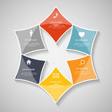 Infographic Templates for Business Vector Illustration. EPS10 Stock Image