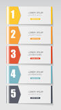 Infographic Templates for Business Vector Royalty Free Stock Photography