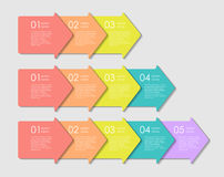 Infographic Templates for Business Vector Illustration Stock Image