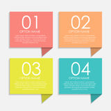 Infographic Templates for Business Vector Illustration Stock Images