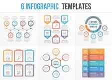 6 Infographic Templates Stock Photo