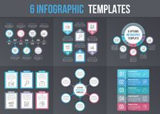 6 Infographic Templates Royalty Free Stock Photo