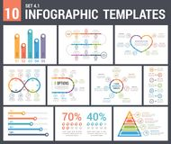 9 Infographic Templates Royalty Free Stock Photos
