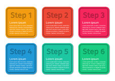 Infographic templates 6 steps. Royalty Free Stock Photo