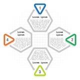 Infographic tempplate 4 kroki Obraz Royalty Free