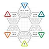 Infographic tempplate 6 kroki Zdjęcie Royalty Free