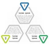 Infographic tempplate 3 kroki Zdjęcia Royalty Free