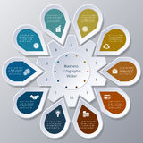 Infographic ten Points arranged in circle gear Stock Images