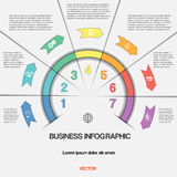 Infographic with text areas on seven positions Stock Images