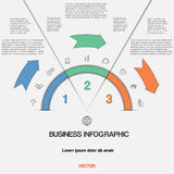 Infographic with text areas on three positions Stock Images