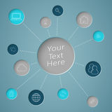 Infographic Text Circle With Links To Web Icons Stock Photo