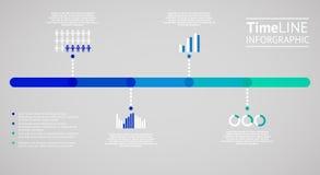 Infographic tijdlijn Vector illustratie vector illustratie