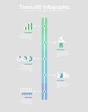 Infographic tijdlijn Vector illustratie stock illustratie