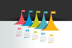 Infographic time line banner. Step by step report template. Stock Photography