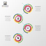 Infographic timeline. Business concept. Colorful circle with icons. Vector illustration Stock Photography