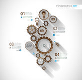 Infographic timeline with Gear mechanic Stock Photography