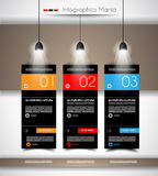 Infographic timeline with Gear mechanic concept Stock Photography