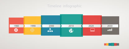 Infographic timeline with icons, step by step anual structure Royalty Free Stock Photos