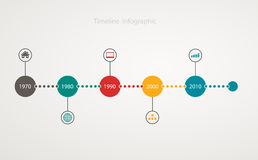 Infographic timeline with icons, step by step anual structureInfographic timeline with icons, step by step anual structure Stock Images