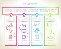 Infographic. Timeline info graphics with 12 icons (or 4 schemes). Vector design template Stock Photo