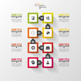 Infographic timeline. Modern vector design template Royalty Free Stock Photography