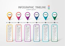 Infographic timeline for multiple purpose of use. Such as Business, plan, processes, step. Quartery Stock Photos