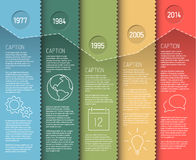 Free Infographic Timeline Report Template Royalty Free Stock Photo - 40975925