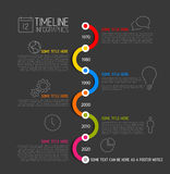 Infographic timeline report template Royalty Free Stock Image