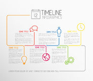 Infographic timeline report template with lines Royalty Free Stock Images
