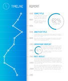 Infographic timeline report template Stock Photos